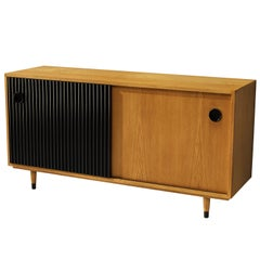 Erich Stratmann Bicolored Sideboard in Ash with Sliding Doors