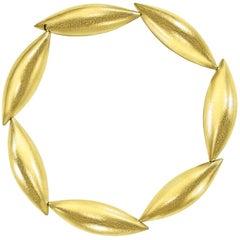 Erich Zimmermann Seven Pod Cocoon Brushed Gold Bracelet