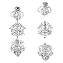 Erickson Beamon Segmented Diamond Chandlier Earrings