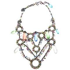 Erickson Beamon Swarovski Crystals Tiered Collar Bib Necklace