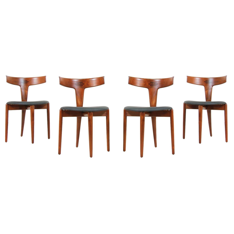 Erik Andersen and Palle Pedersen Dining Chairs for Randers Møbelfabrik