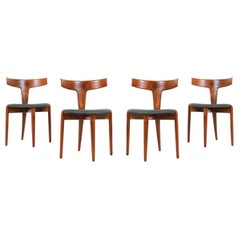 Erik Andersen and Palle Pedersen Dining Chairs for Randers Møbelfabrik