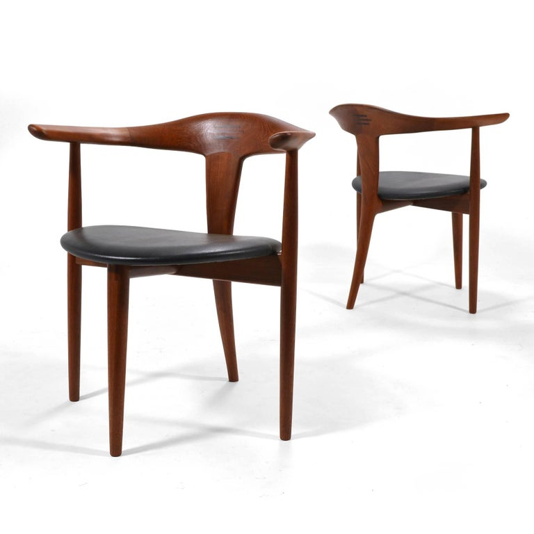 Erik Andersen and Palle Pedersen Pair of Rare Easy Chairs For Sale 3