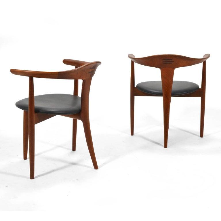 Scandinavian Modern Erik Andersen and Palle Pedersen Pair of Rare Easy Chairs For Sale