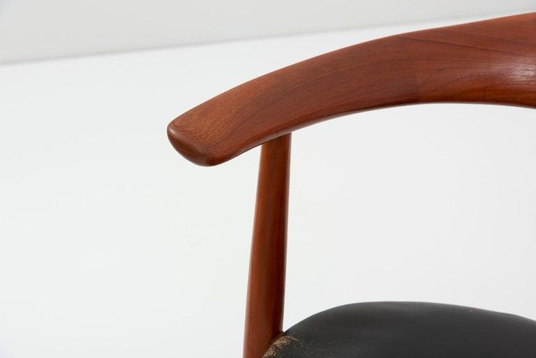 Erik Andersen & Palle Pedersen Chair in Teak, Leather for Randers, Denmark 1960s For Sale 6