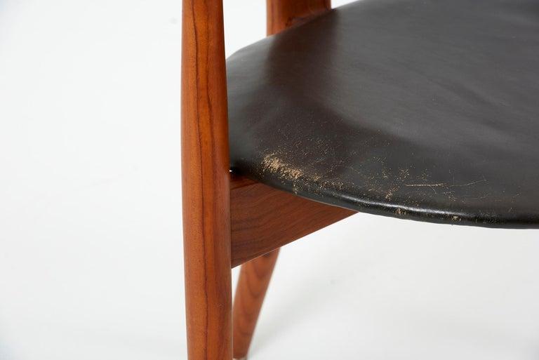Erik Andersen & Palle Pedersen Chair in Teak, Leather for Randers, Denmark 1960s For Sale 9