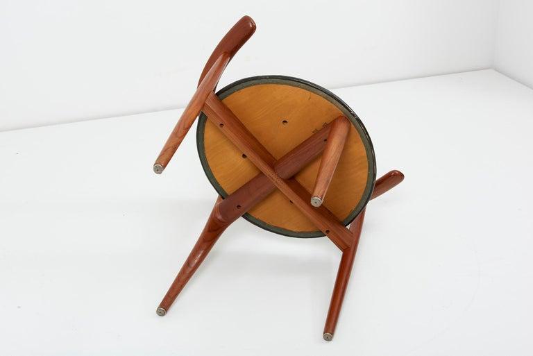 Erik Andersen & Palle Pedersen Chair in Teak, Leather for Randers, Denmark 1960s For Sale 11