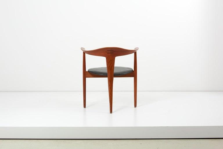 Danish Erik Andersen & Palle Pedersen Chair in Teak, Leather for Randers, Denmark 1960s For Sale