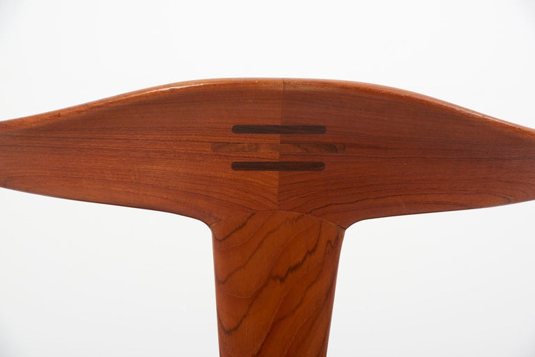 Mid-20th Century Erik Andersen & Palle Pedersen Chair in Teak, Leather for Randers, Denmark 1960s For Sale