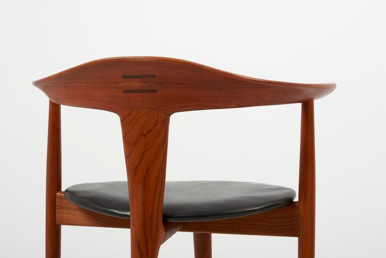 Erik Andersen & Palle Pedersen Chair in Teak, Leather for Randers, Denmark 1960s For Sale 1