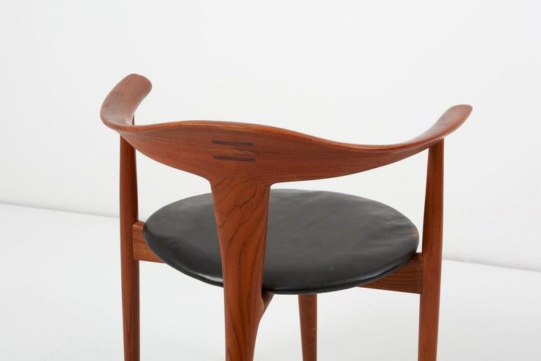 Erik Andersen & Palle Pedersen Chair in Teak, Leather for Randers, Denmark 1960s For Sale 2