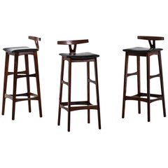 Erik Buch Bar Stools in Rosewood Produced by Dyrlund in Denmark