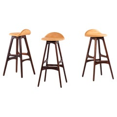 Erik Buch Bar Stools Model Od-61 by Oddense Møbelfabrik in Denmark