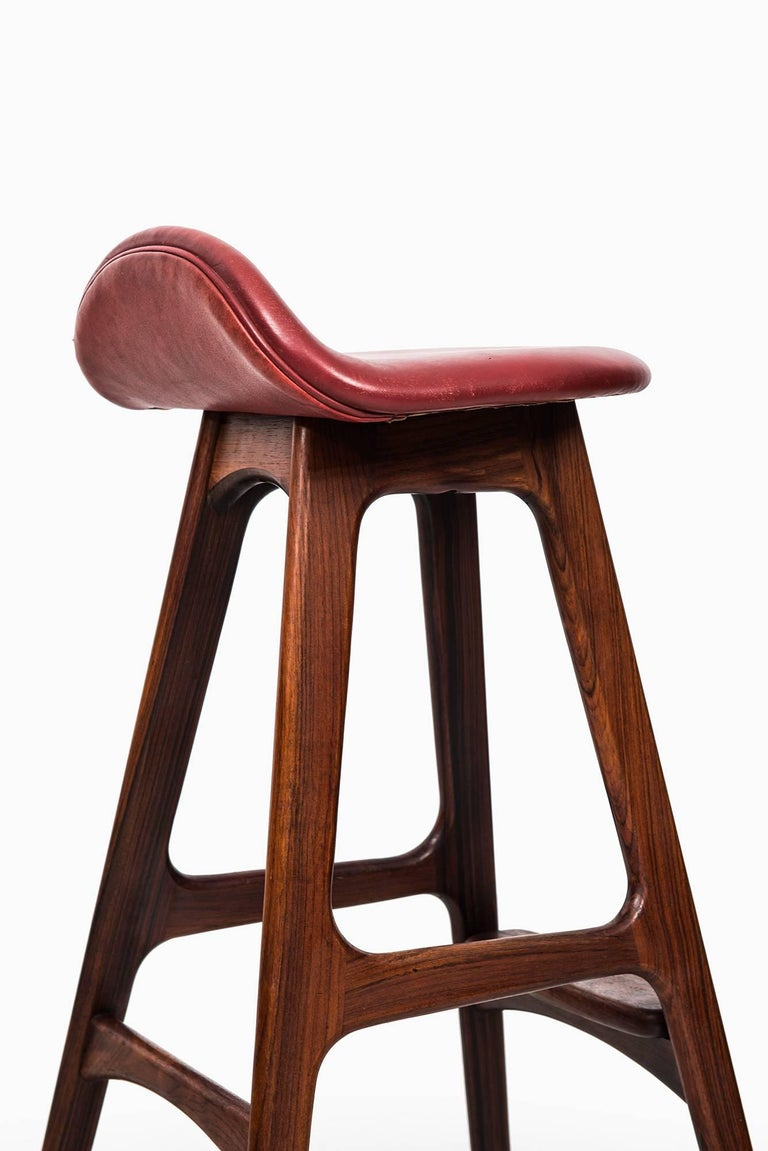 Erik Buch Bar Stools Model OD-61 by Odense Møbelfabrik in Denmark In Excellent Condition For Sale In Malmo, SE