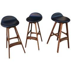 Erik Buch Bar Stools Set of 3