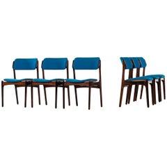 Erik Buch Dining Chairs Model OD-49 by Oddense Maskinsnedkeri in Denmark