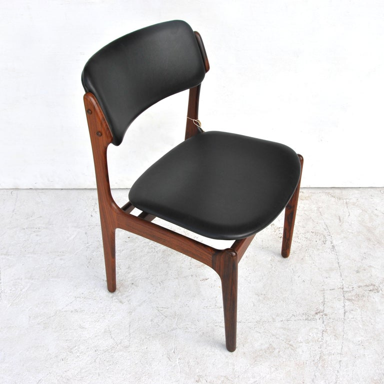 Mid-20th Century Erik Buch For O.D. Mobler Danish Rosewood Side Chair