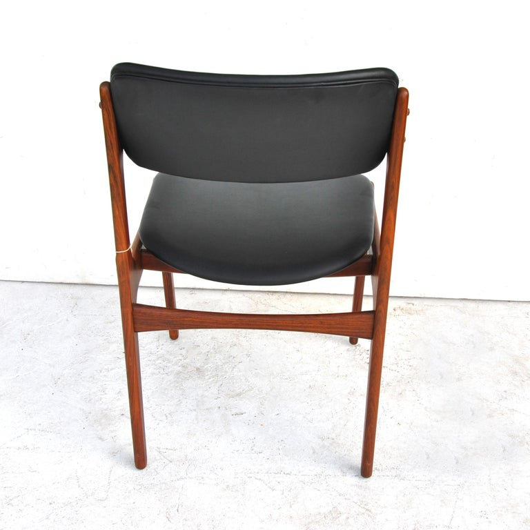 Erik Buch For O.D. Mobler Danish Rosewood Side Chair 2