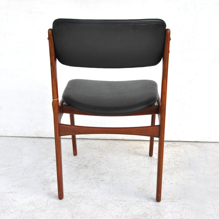 Erik Buch For O.D. Mobler Danish Rosewood Side Chair 3