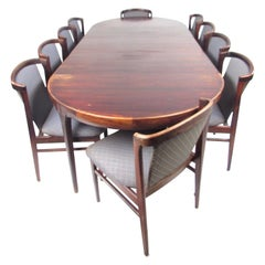 Erik Buch for Orum Mobler Rosewood Dining Chairs and Table