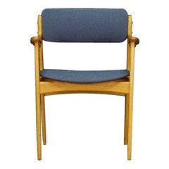 Erik Buch Gray Armchair Teak Danish Design Vintage Original