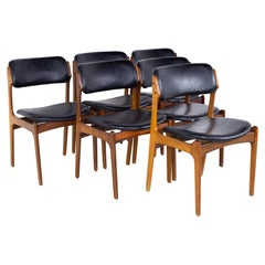 Erik Buch Mid Century Rosewood Dining Chairs, Set of 6