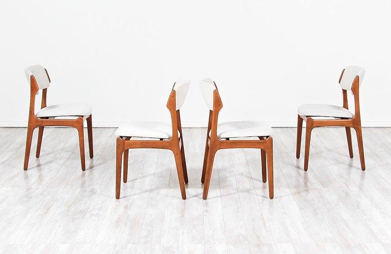 Mid-Century Modern Erik Buch Model-49 Dining Chairs for Oddense Maskinsinedkeri For Sale