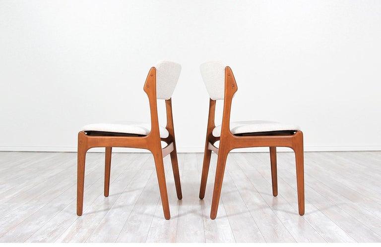 Fabric Erik Buch Model-49 Dining Chairs for Oddense Maskinsinedkeri For Sale
