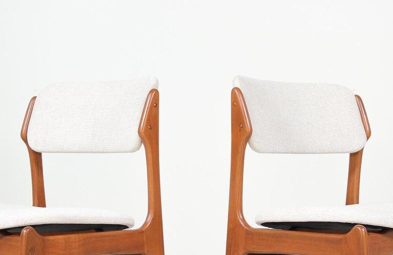 Erik Buch Model-49 Dining Chairs for Oddense Maskinsinedkeri For Sale 1