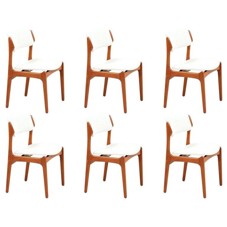 Erik Buch Model-49 Dining Chairs for Oddense Maskinsinedkeri For Sale