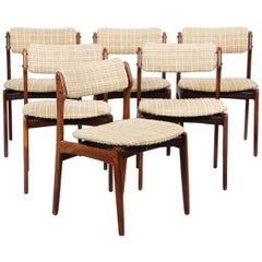 Erik Buch Model 49 Rosewood Dining Chairs for Oddense Maskinsnedkeri Set of Six