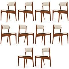 Erik Buch 'Model 49' Teak Dining Chairs, Set of Ten