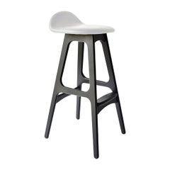 Erik Buch Model 61 Mid Century Counter Stool in Black Oak