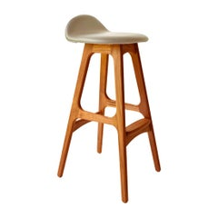 Erik Buch Model 61 Mid Century Counter Stool in Teak
