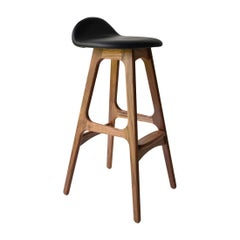 Erik Buch Model 61 Midcentury Counter Stool in Walnut