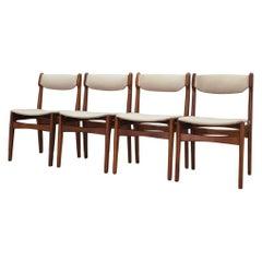 Erik Buch Set of 4 Chairs Vintage