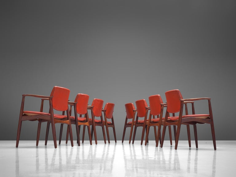 Erik Buch Set of Eight Rosewood Chairs For Sale 1