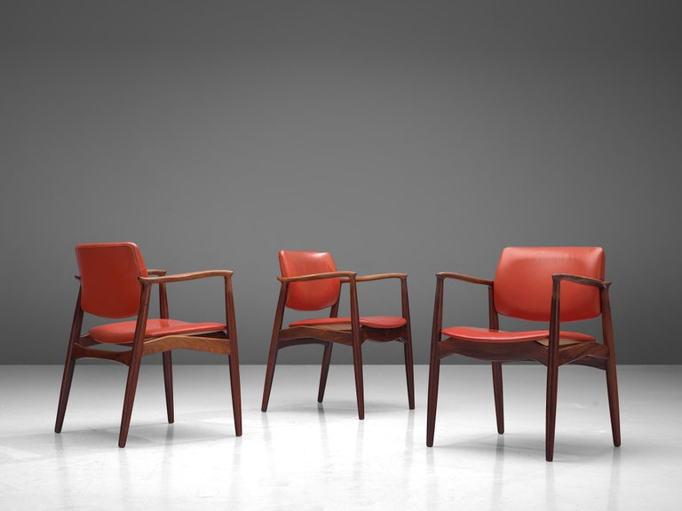 Erik Buch Set of Eight Rosewood Chairs For Sale 2