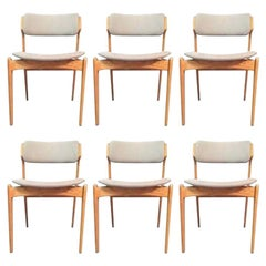 Erik Buch Set of Six Fully Restored Dining Chairs in Oak, Inc. Reupholstery