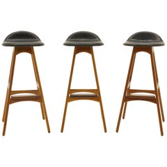 Erik Buck Barstools Teak and Rosewood
