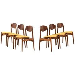 Erik Buck Dining Chairs Produced by Vamo Møbelfabrik in Denmark