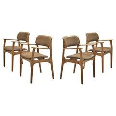 Erik Buck for Ørum Møbler Set of Four Dining Chairs Model '50' in Oak