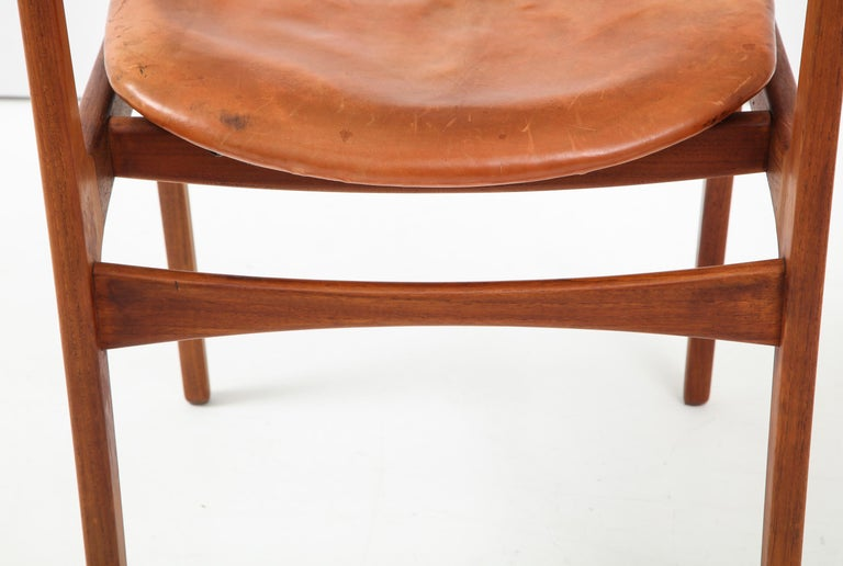 Erik Buck Teak and Leather Chair For Sale 4