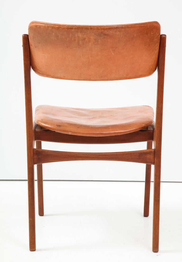 Mid-20th Century Erik Buck Teak and Leather Chair For Sale