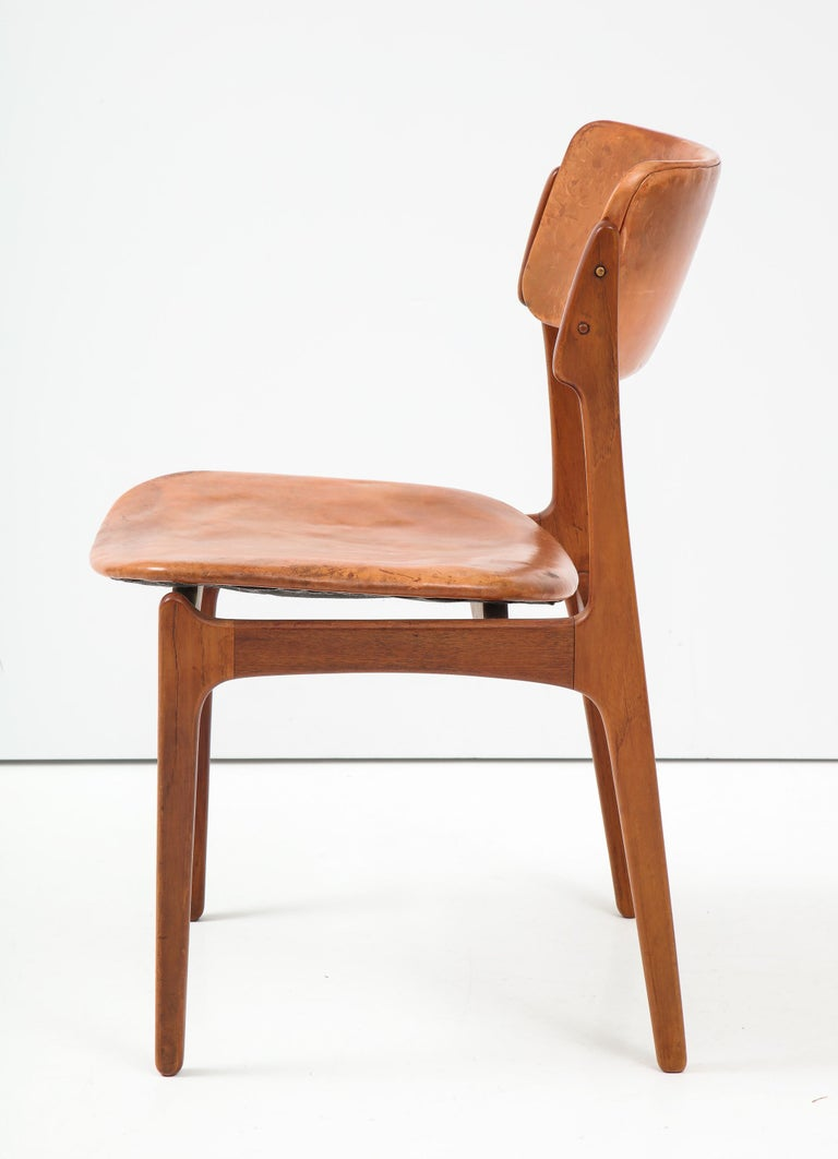 Erik Buck Teak and Leather Chair For Sale 1