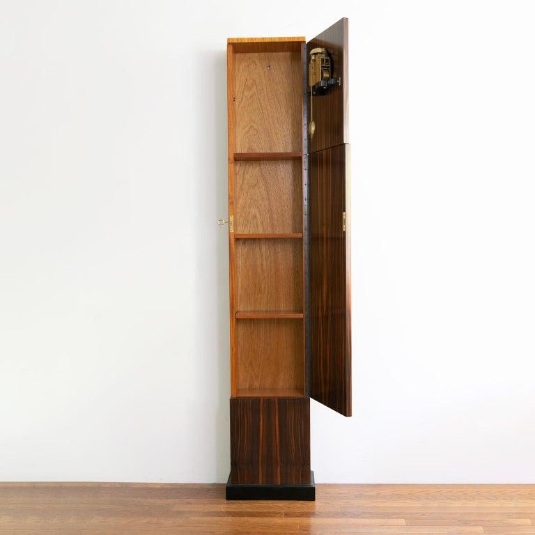 Erik Chambert Swedish Art Deco Floor Clock in Rosewood and Decorative Marquetry For Sale 2