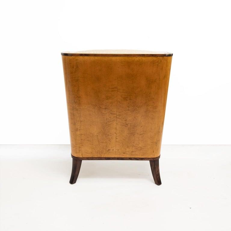 Erik Chambert Swedish Art Deco Scandinavian Modern Marquetry Lounge Chairs For Sale 3
