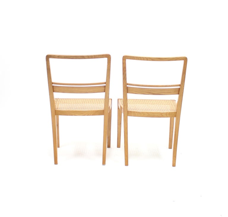 Erik Chambert, Very Rare Pair of Chairs, AB Chamberts Möbelfabrik, 1937 For Sale 3