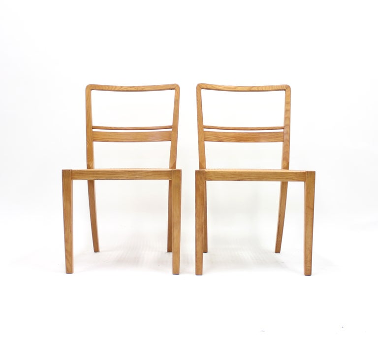 Scandinavian Modern Erik Chambert, Very Rare Pair of Chairs, AB Chamberts Möbelfabrik, 1937 For Sale