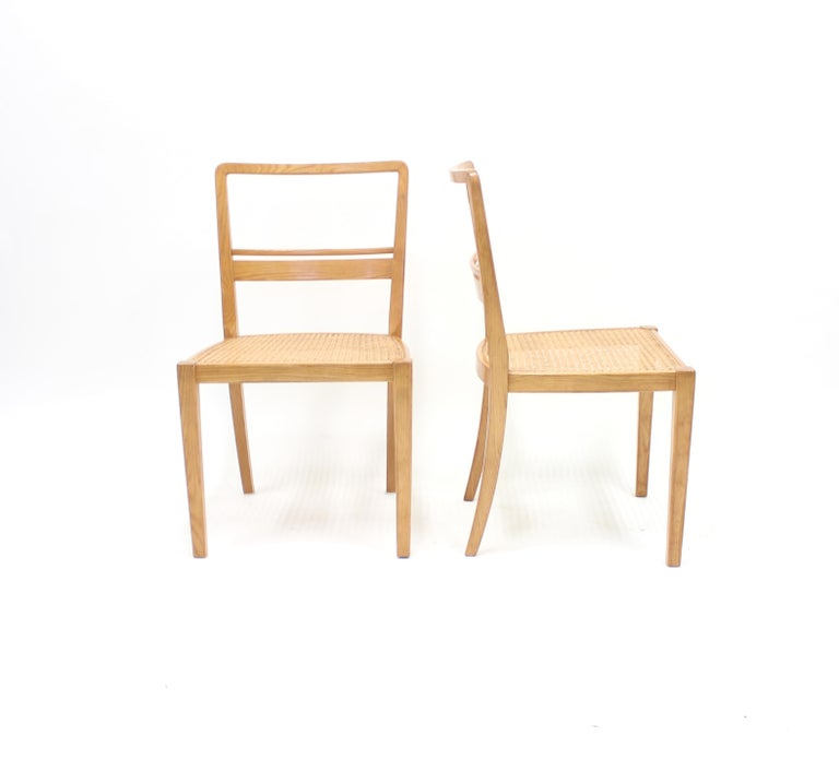 Erik Chambert, Very Rare Pair of Chairs, AB Chamberts Möbelfabrik, 1937 In Good Condition For Sale In Uppsala, SE